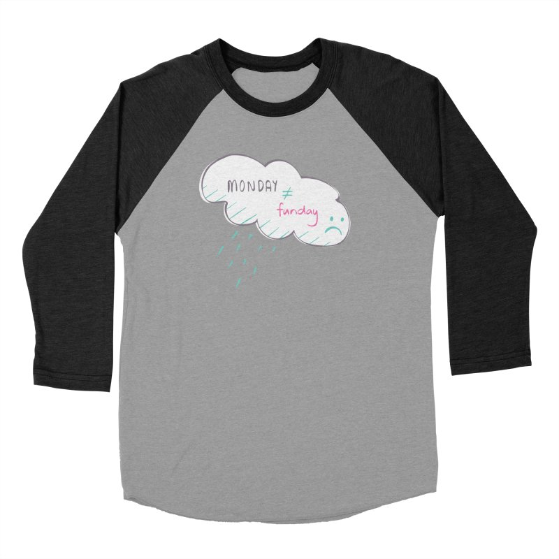 Monday is not equal to funday Women's Baseball Triblend T-Shirt by Flourish & Flow's Artist Shop