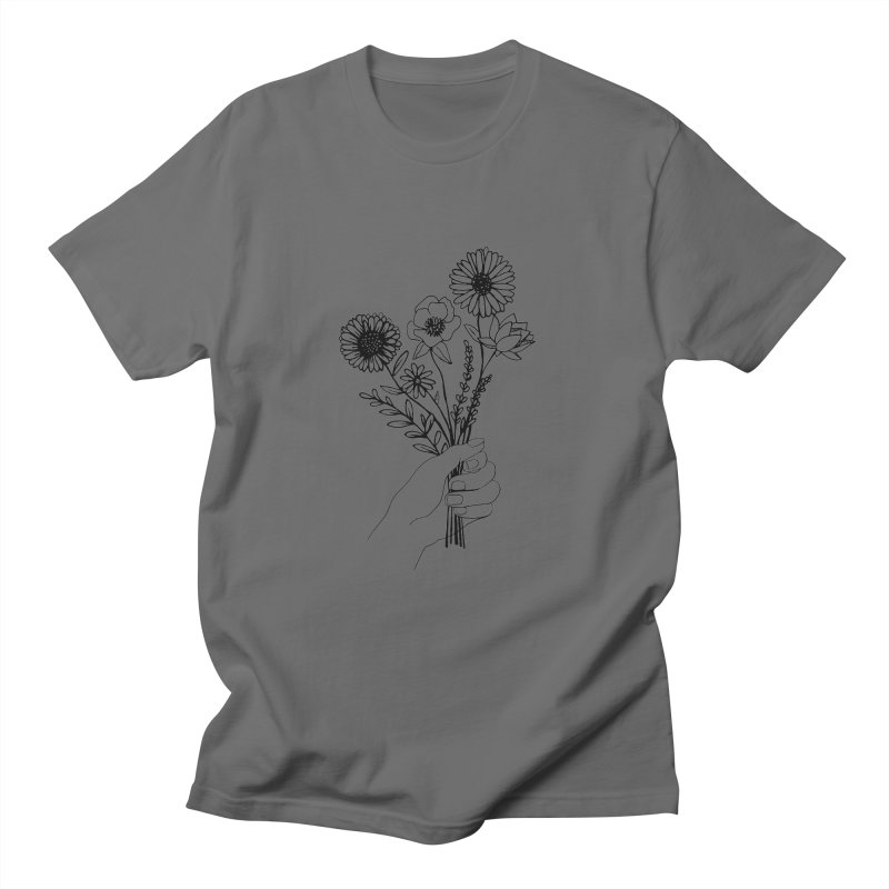 Hand Holding Flowers Women's T-Shirt by Flowers For Dreams Artist Shop