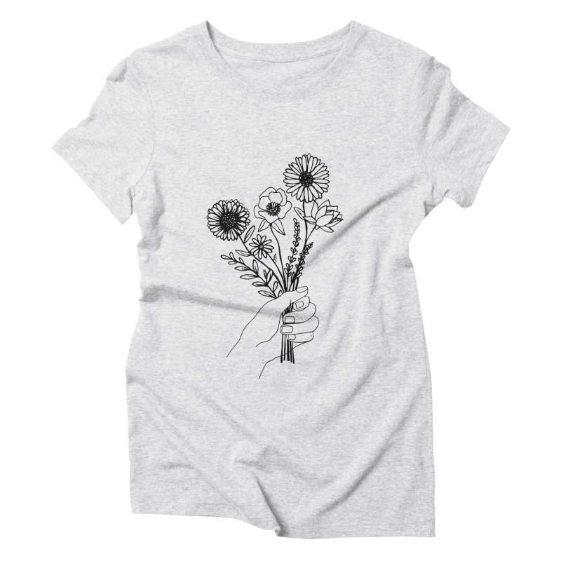 Hand Holding Flowers Women's Triblend T-Shirt by Flowers For Dreams Artist Shop