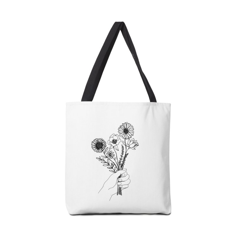 Hand Holding Flowers Accessories Tote Bag Bag by Flowers For Dreams Artist Shop