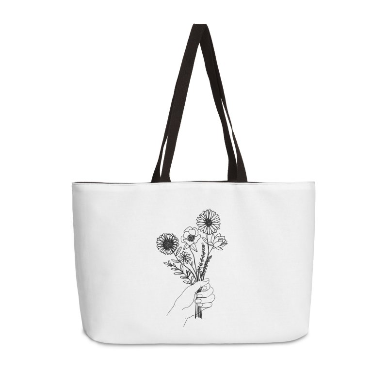 Hand Holding Flowers Accessories Weekender Bag Bag by Flowers For Dreams Artist Shop