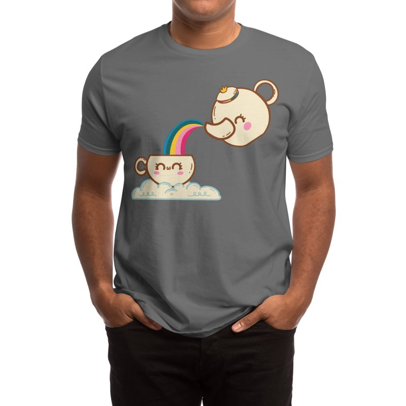 Rainbow Tea Men's T-Shirt by fluffymafi's Artist Shop