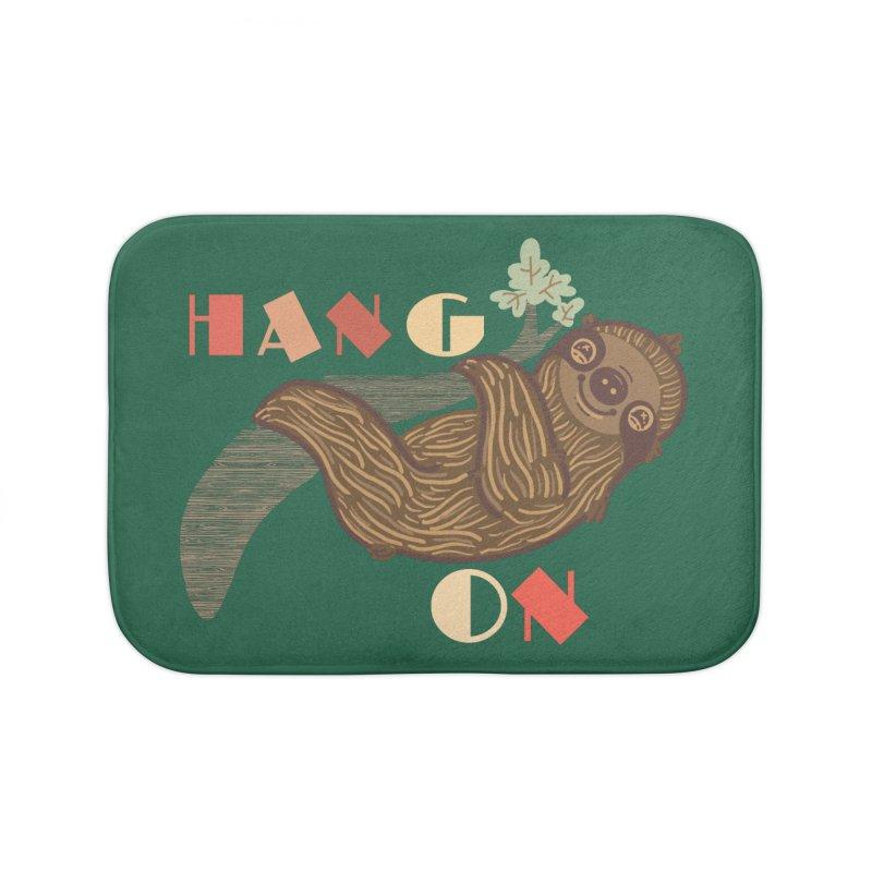Hang On Home Bath Mat by fluffymafi's Artist Shop