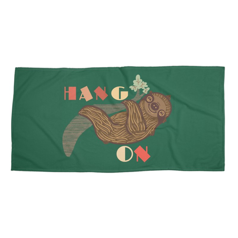 Hang On Accessories Beach Towel by fluffymafi's Artist Shop