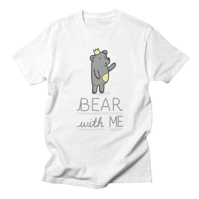 bear with me in Men's Regular T-Shirt White by fluffythoughts's Artist Shop
