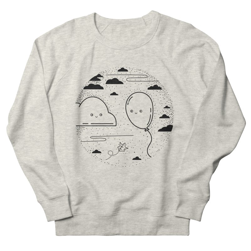Cloud <3 Balloon in Women's French Terry Sweatshirt Heather Oatmeal by fluffythoughts's Artist Shop