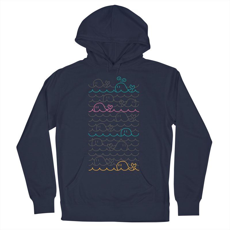 whale sea Men's Pullover Hoody by alekksall's Artist Shop