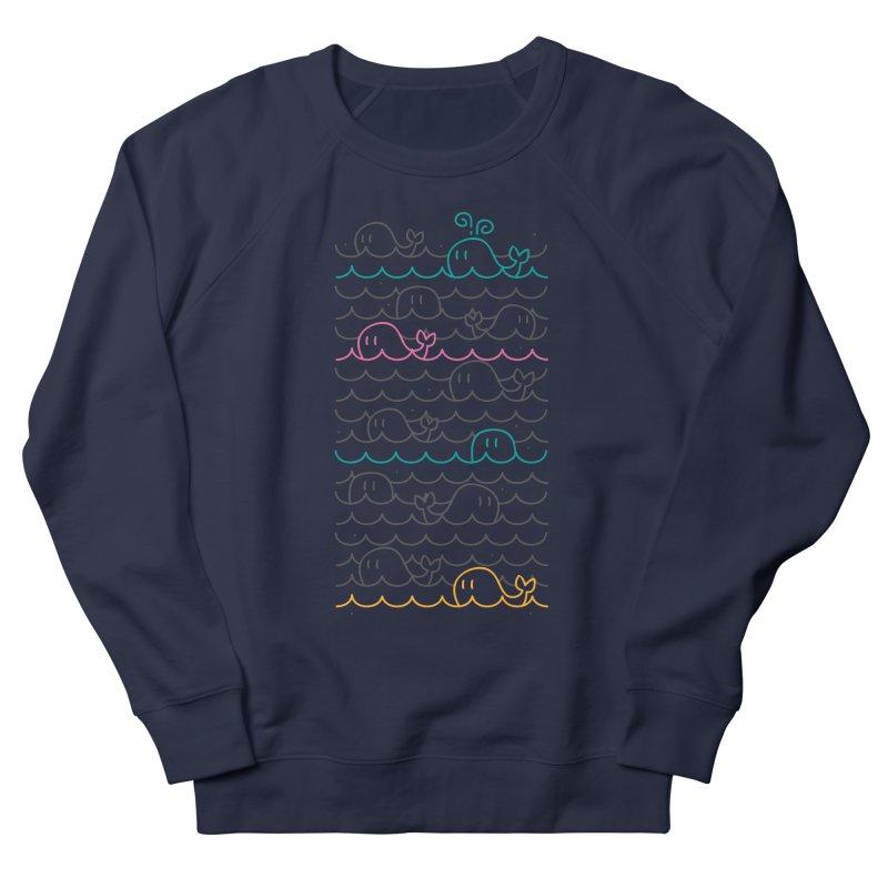 whale sea Men's Sweatshirt by alekksall's Artist Shop