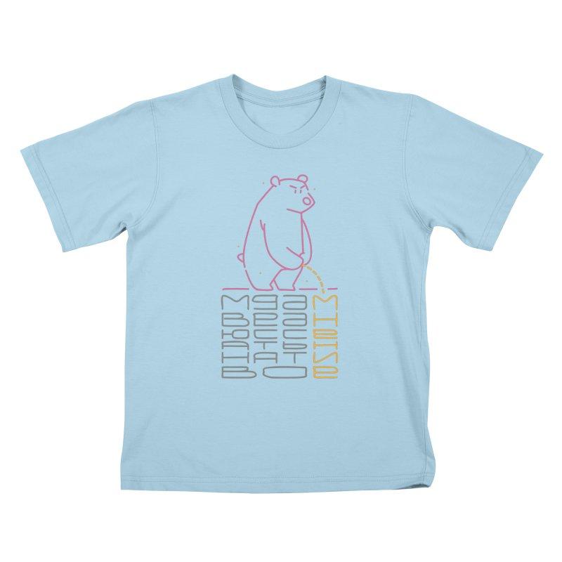 Bad bear Kids T-Shirt by alekksall's Artist Shop