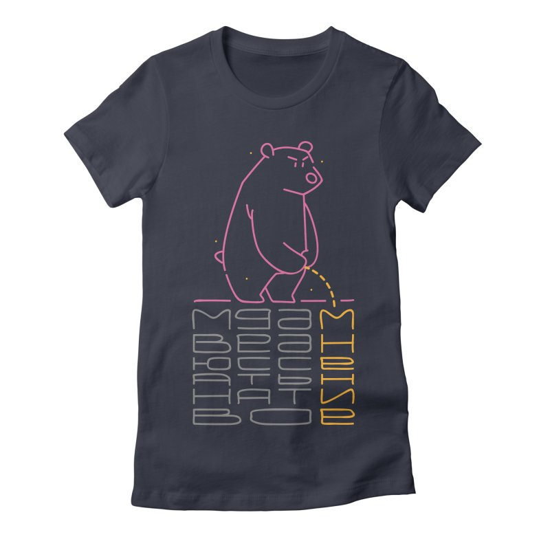 Bad bear Women's Fitted T-Shirt by alekksall's Artist Shop