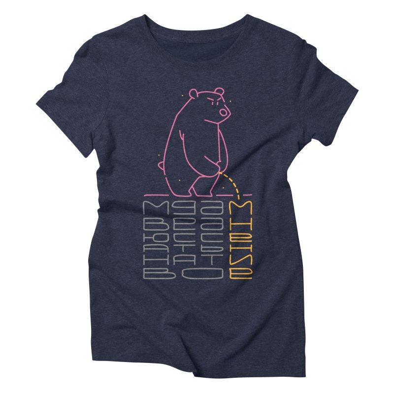 Bad bear Women's Triblend T-shirt by alekksall's Artist Shop