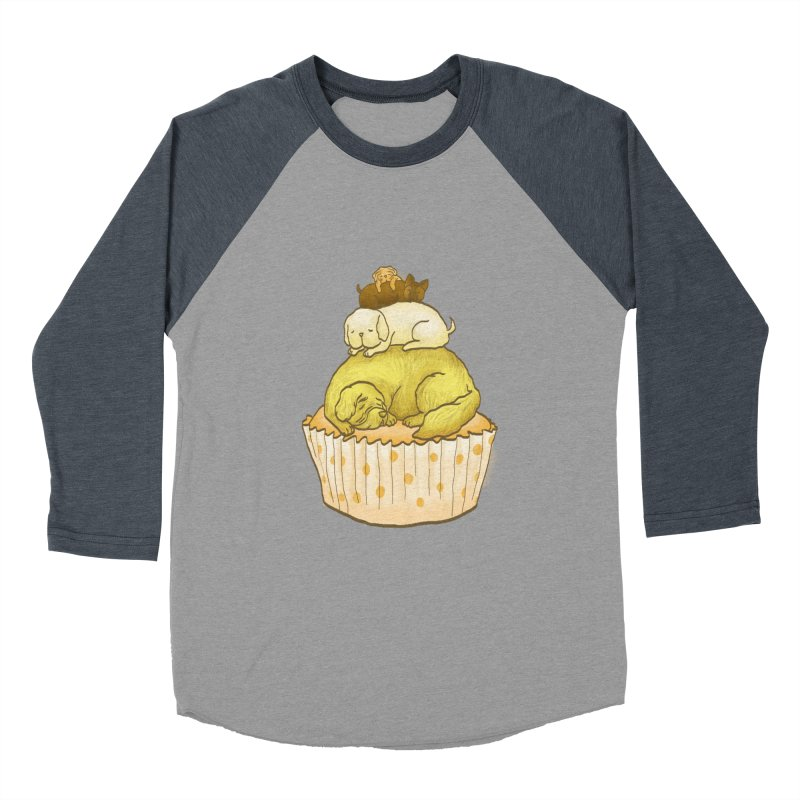 Pupcake Men's Baseball Triblend T-Shirt by flyazhel's Artist Shop