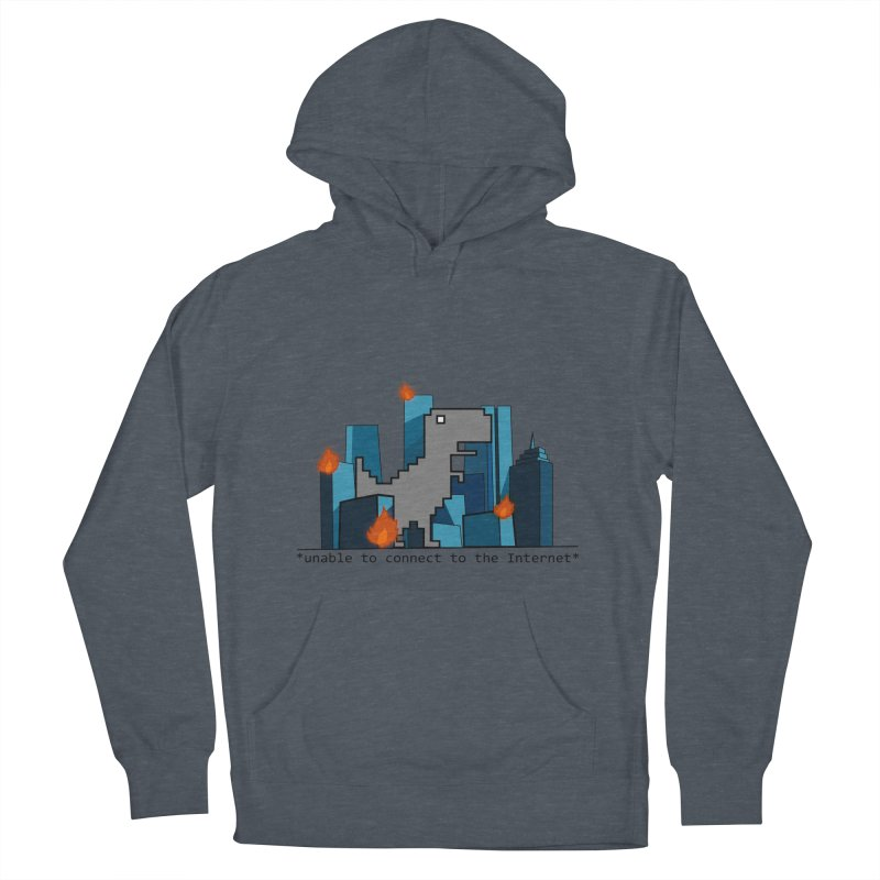 """No Internet T-Rex is the scariest kind of T-rex"" Men's Pullover Hoody by flyazhel's Artist Shop"