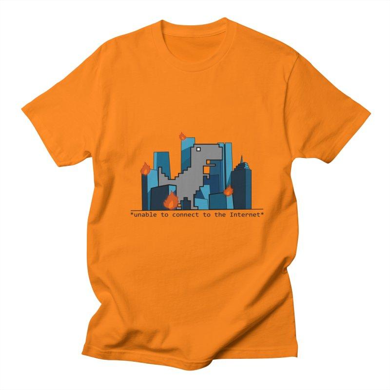 """No Internet T-Rex is the scariest kind of T-rex"" Men's T-shirt by flyazhel's Artist Shop"