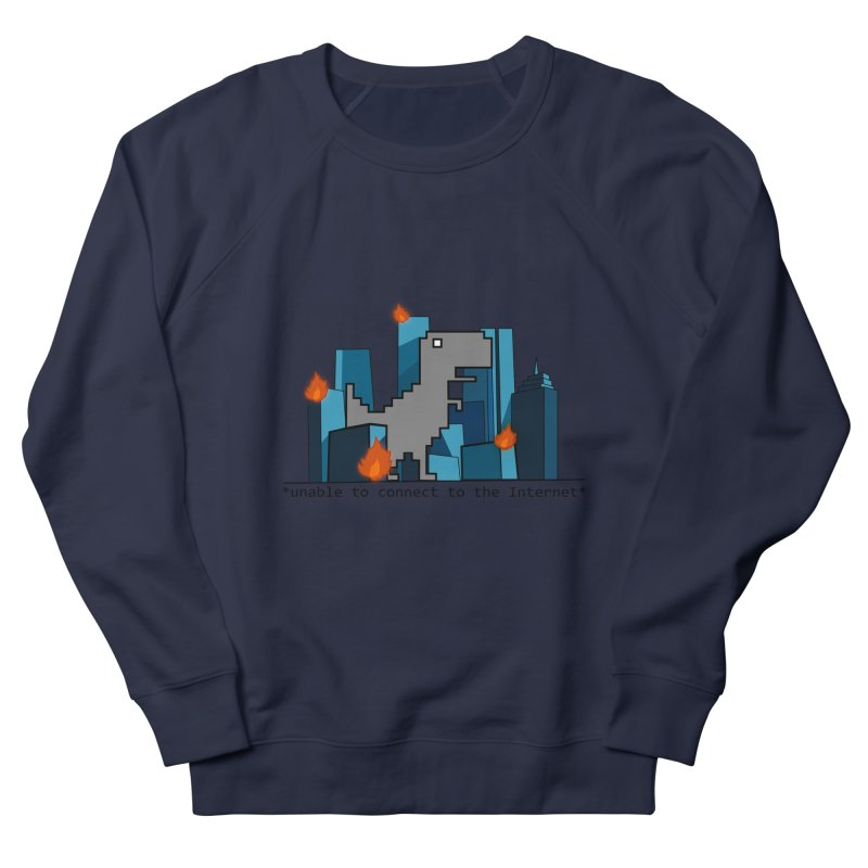 """No Internet T-Rex is the scariest kind of T-rex"" Men's Sweatshirt by flyazhel's Artist Shop"
