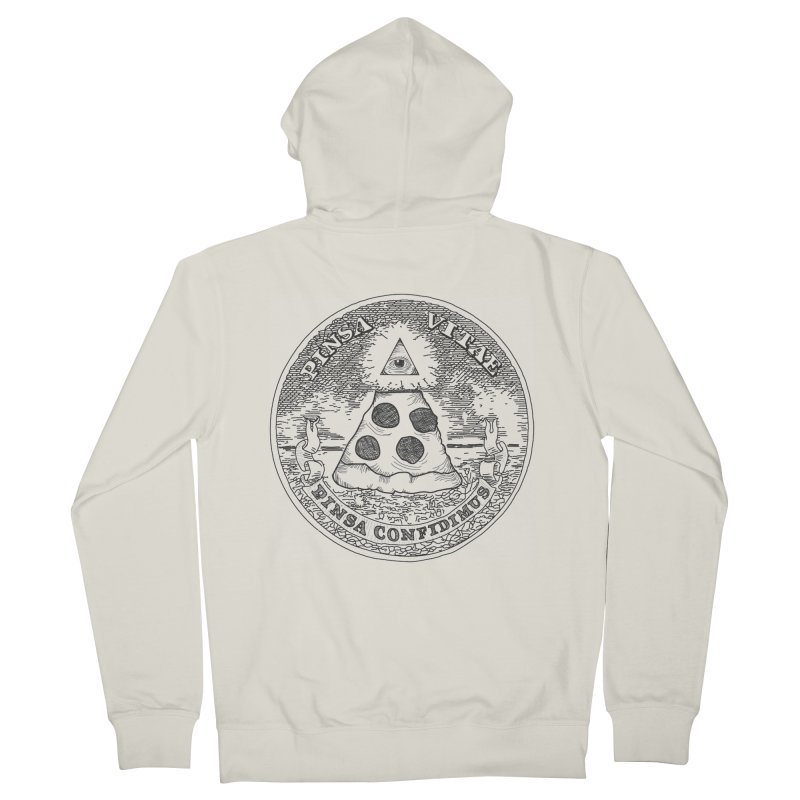 In Pizza We Trust Men's Zip-Up Hoody by flyazhel's Artist Shop
