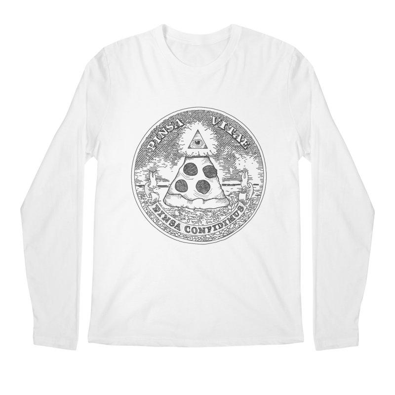 In Pizza We Trust Men's Longsleeve T-Shirt by flyazhel's Artist Shop