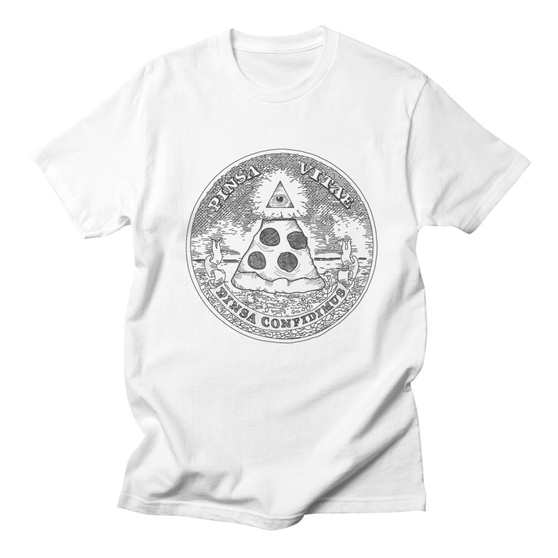 In Pizza We Trust Men's T-shirt by flyazhel's Artist Shop