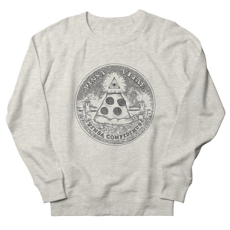 In Pizza We Trust Women's Sweatshirt by flyazhel's Artist Shop