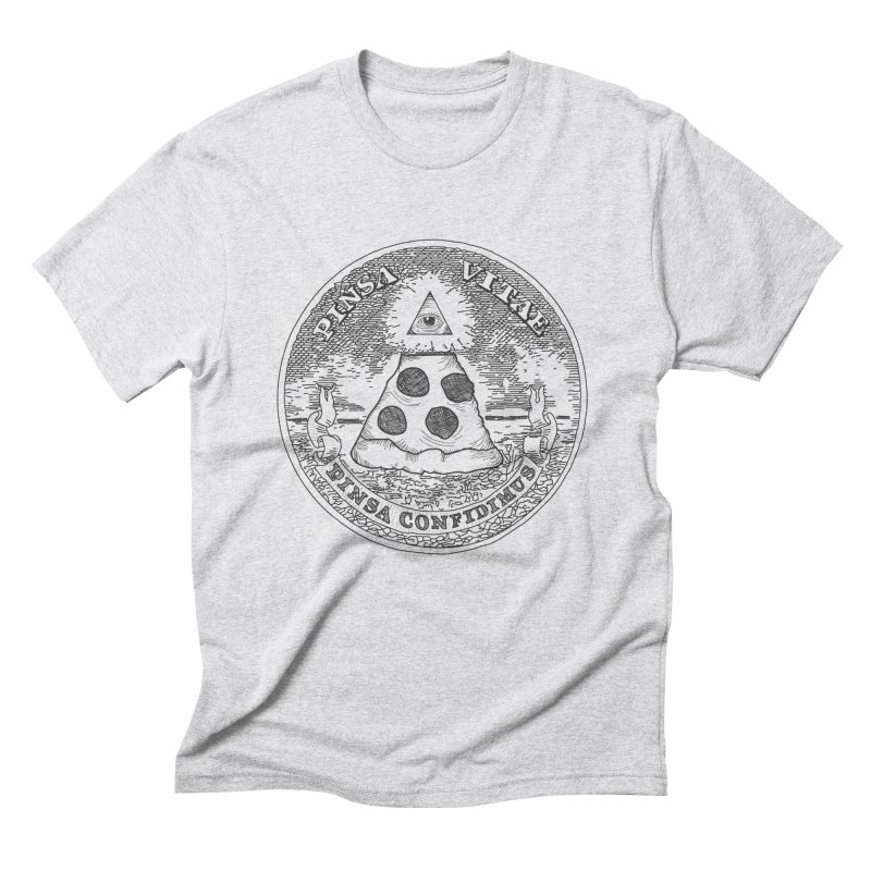 In Pizza We Trust Men's Triblend T-shirt by flyazhel's Artist Shop