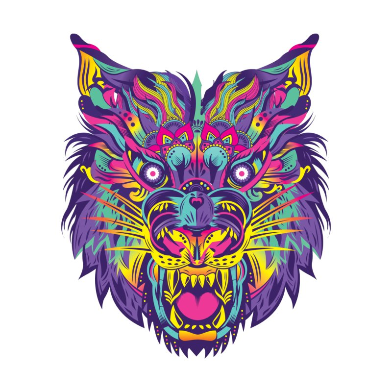 Rainbow Tiger None  by flydesignstudio's Artist Shop