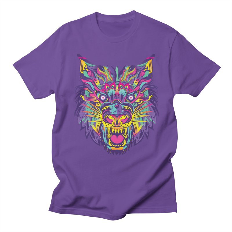 Rainbow Tiger Men's T-Shirt by flydesignstudio's Artist Shop
