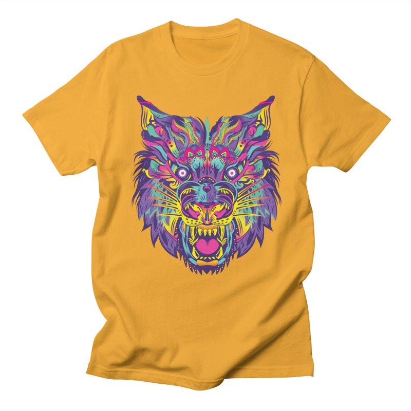 Rainbow Tiger Men's T-shirt by flydesignstudio's Artist Shop