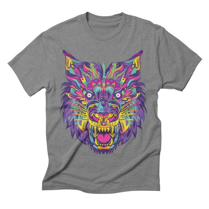 Rainbow Tiger Men's Triblend T-shirt by flydesignstudio's Artist Shop