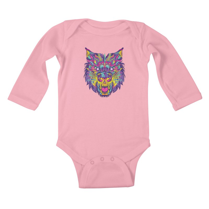 Rainbow Tiger Kids Baby Longsleeve Bodysuit by flydesignstudio's Artist Shop