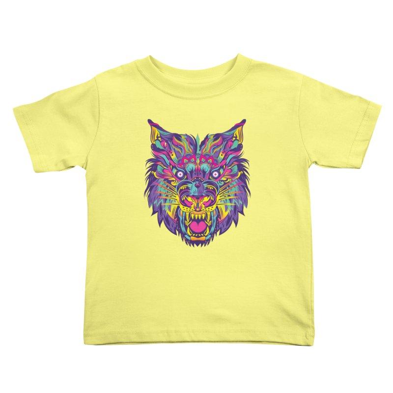 Rainbow Tiger Kids Toddler T-Shirt by flydesignstudio's Artist Shop