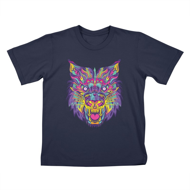 Rainbow Tiger Kids T-shirt by flydesignstudio's Artist Shop