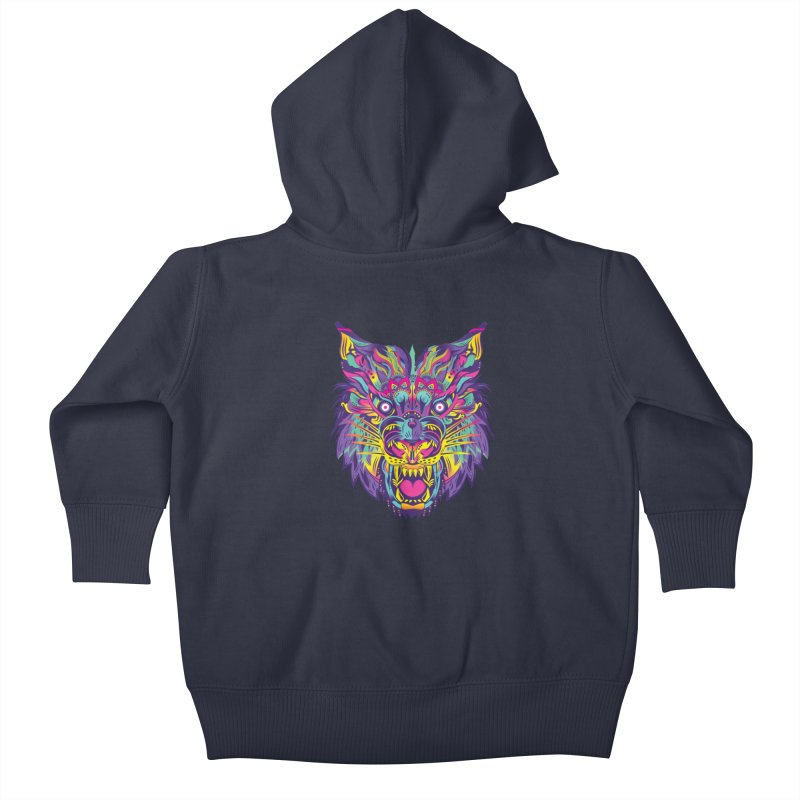 Rainbow Tiger Kids Baby Zip-Up Hoody by flydesignstudio's Artist Shop