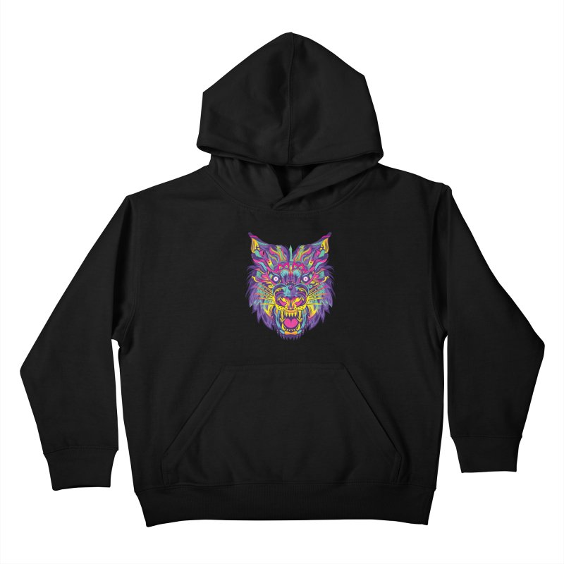 Rainbow Tiger Kids Pullover Hoody by flydesignstudio's Artist Shop