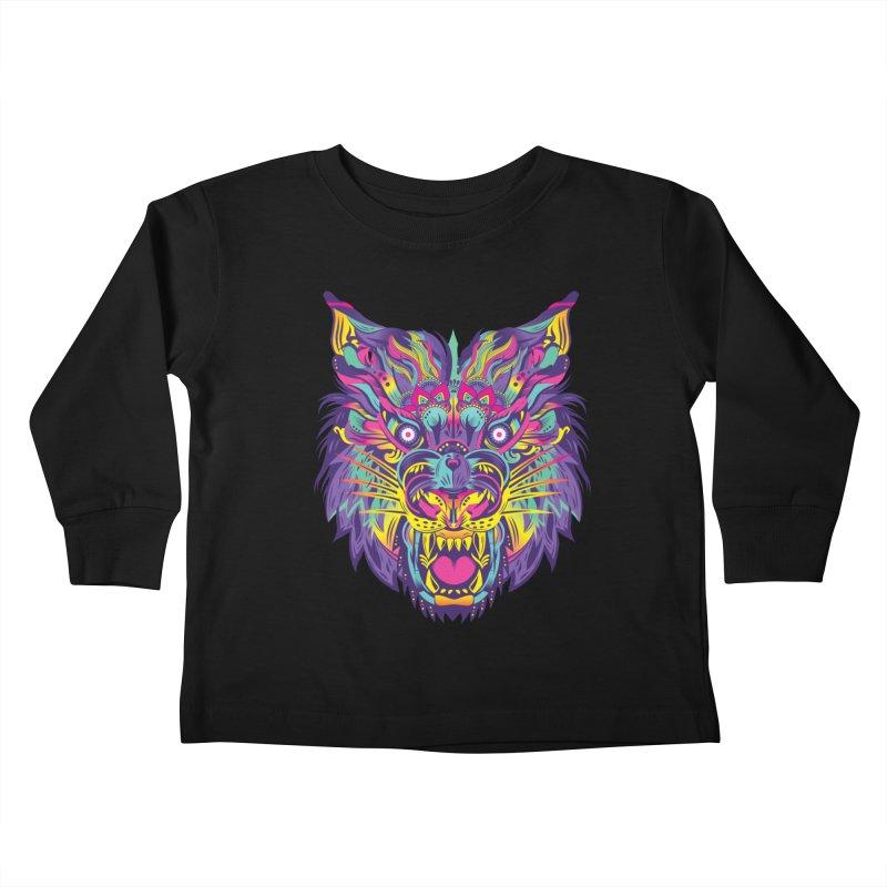 Rainbow Tiger Kids Toddler Longsleeve T-Shirt by flydesignstudio's Artist Shop