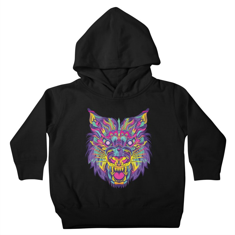 Rainbow Tiger Kids Toddler Pullover Hoody by flydesignstudio's Artist Shop