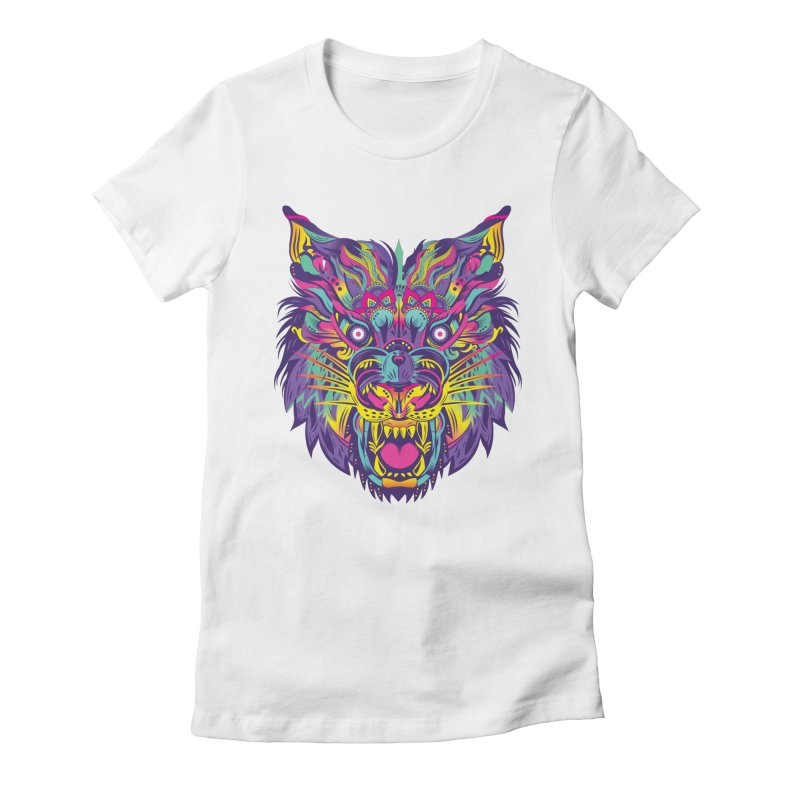 Rainbow Tiger Women's Fitted T-Shirt by flydesignstudio's Artist Shop