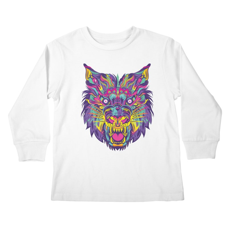 Rainbow Tiger Kids Longsleeve T-Shirt by flydesignstudio's Artist Shop
