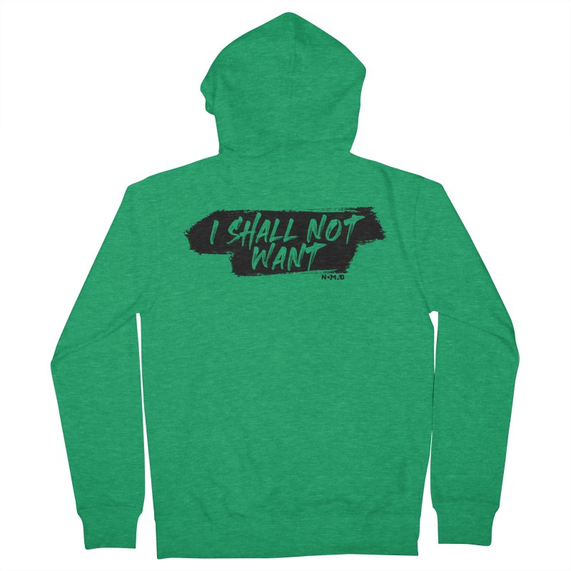NOMAD - I Shall Not Want (Light Colors) Men's Zip-Up Hoody by Flyers by Alex's Shop