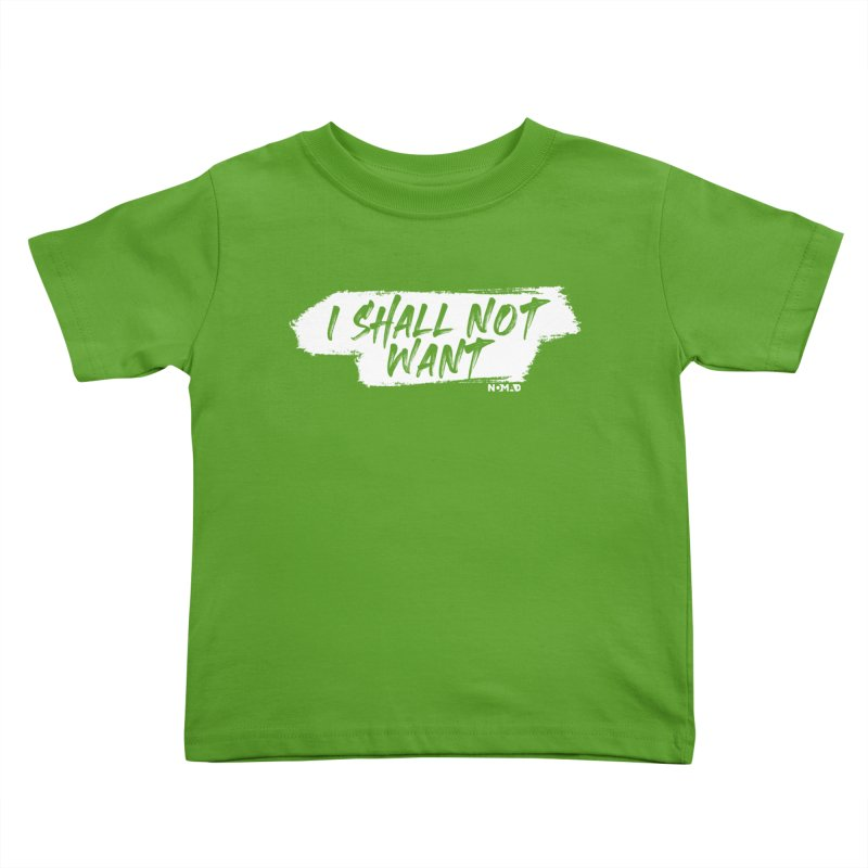 NOMAD - I Shall Not Want (Dark Colors) Kids Toddler T-Shirt by Flyers by Alex's Shop