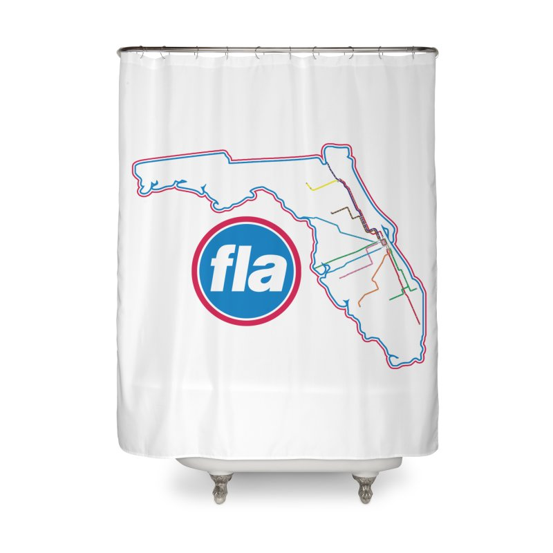 FLA Transit Authority Home Shower Curtain by Flyers by Alex's Shop