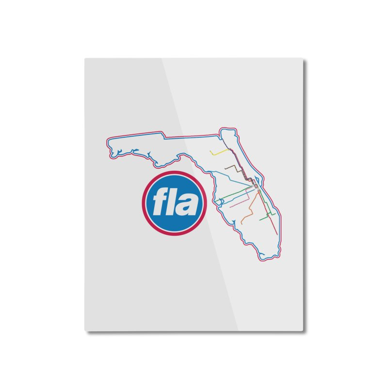 FLA Transit Authority Home Mounted Aluminum Print by Flyers by Alex's Shop