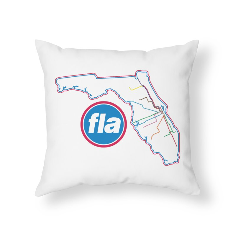 FLA Transit Authority Home Throw Pillow by Flyers by Alex's Shop