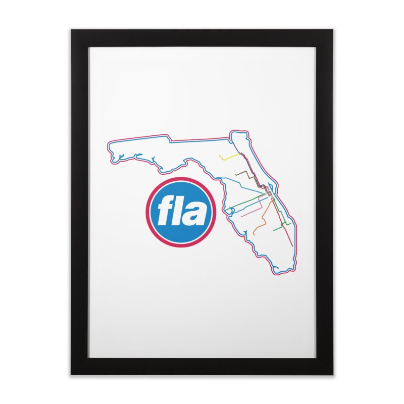 FLA Transit Authority Home Framed Fine Art Print by Flyers by Alex's Shop