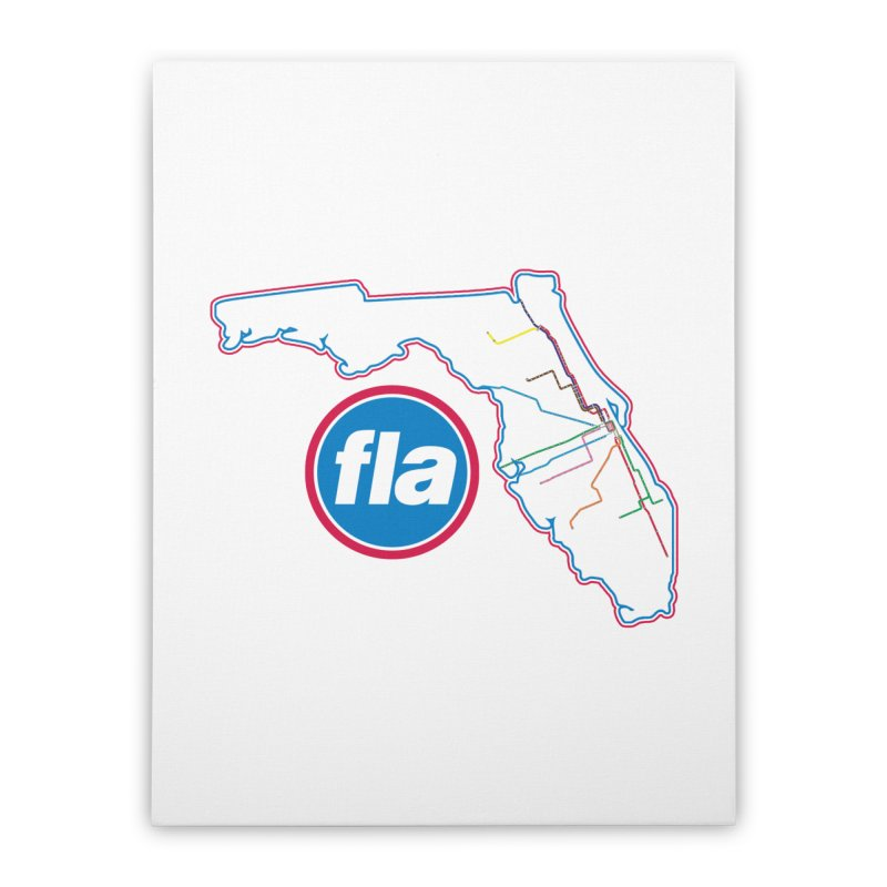FLA Transit Authority Home Stretched Canvas by Flyers by Alex's Shop