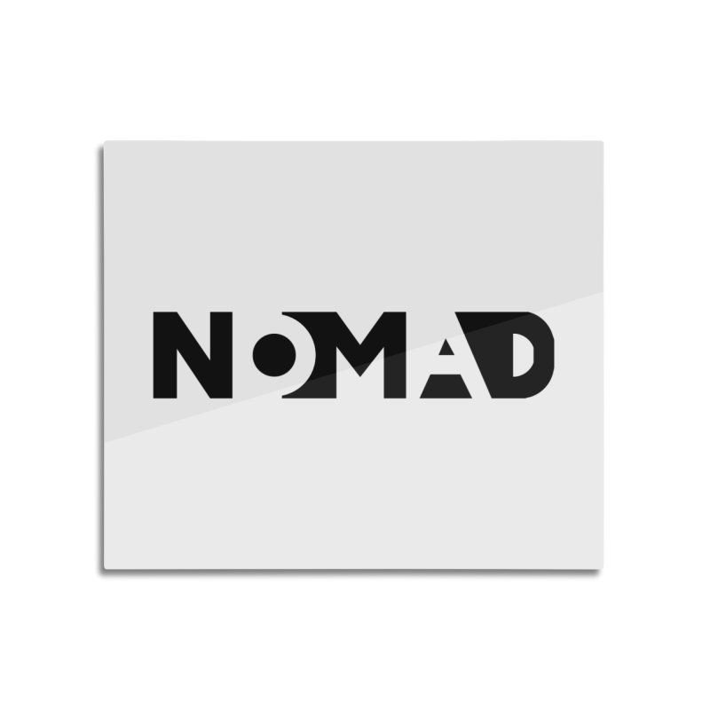 Nomad Logo for Light Colors Home Mounted Aluminum Print by Flyers by Alex's Shop