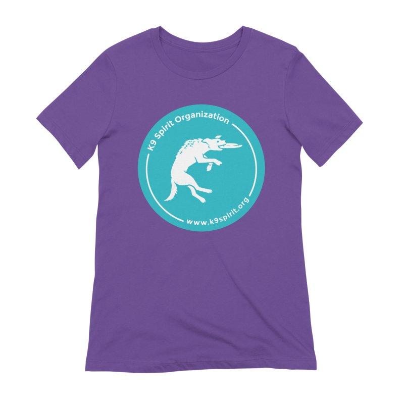 K9 Spirit Organization Circle Logo Design Women's Extra Soft T-Shirt by Flying Canines Shop