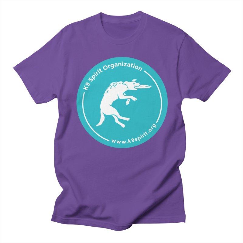 K9 Spirit Organization Circle Logo Design Men's Regular T-Shirt by Flying Canines Shop