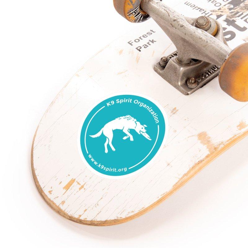 K9 Spirit Organization Circle Logo Design Accessories Sticker by Flying Canines Shop