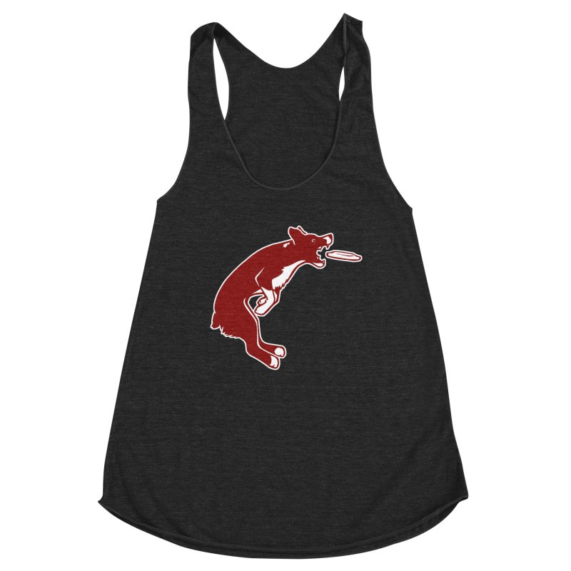Sky High Flying Canines Logo Design Women's Racerback Triblend Tank by Flying Canines Shop