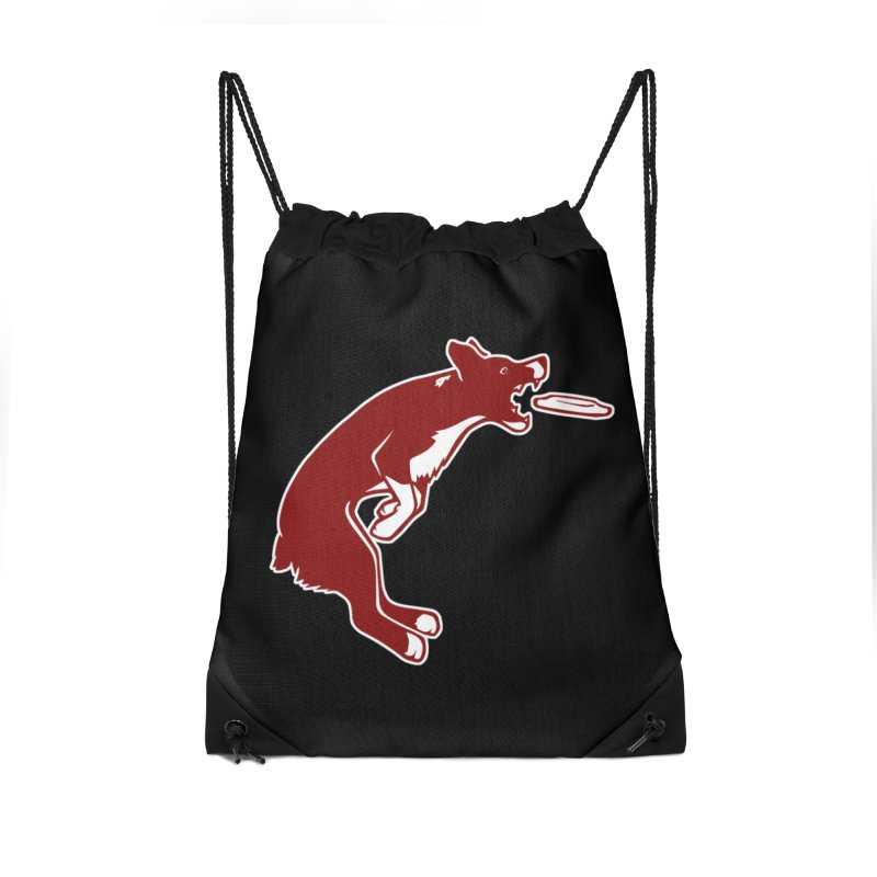 Sky High Flying Canines Logo Design Accessories Drawstring Bag Bag by Flying Canines Shop